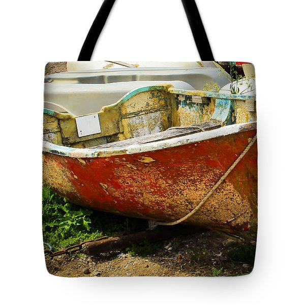Lady In Red Tote Bag by Rene Triay Photography