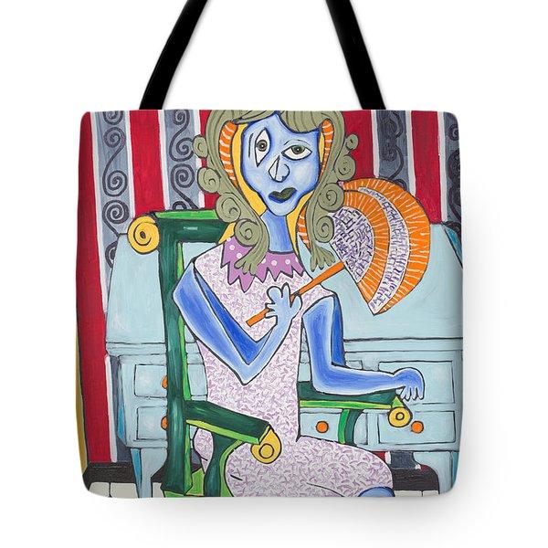 Lady Laura Tote Bag by Daniel Burtea