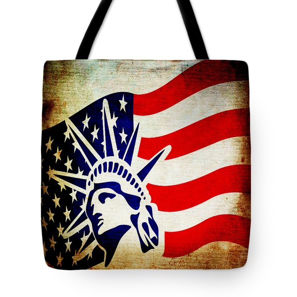 Lady Liberty Keeps Watch Tote Bag by Angelina Vick