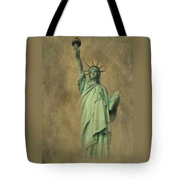 Lady Liberty New York Harbor Tote Bag by David Dehner