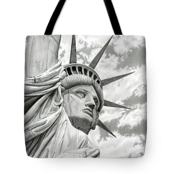 Lady Liberty  Tote Bag by Sarah Batalka