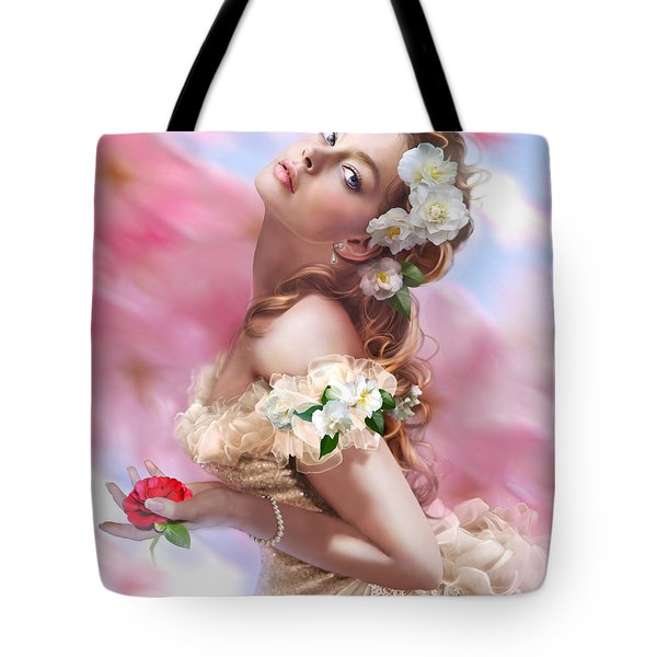 Lady Of The Camellias Tote Bag by Drazenka Kimpel