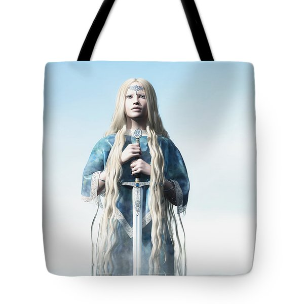 Lady Of The Lake Tote Bag by Melissa Krauss