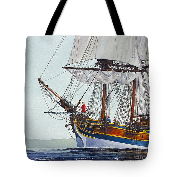 Lady Washington and Captain Gray Tote Bag by James Williamson