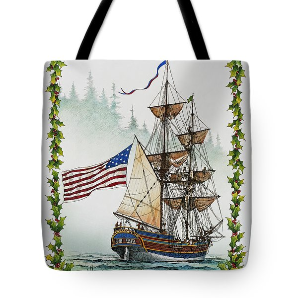 Lady Washington and Holly Tote Bag by James Williamson