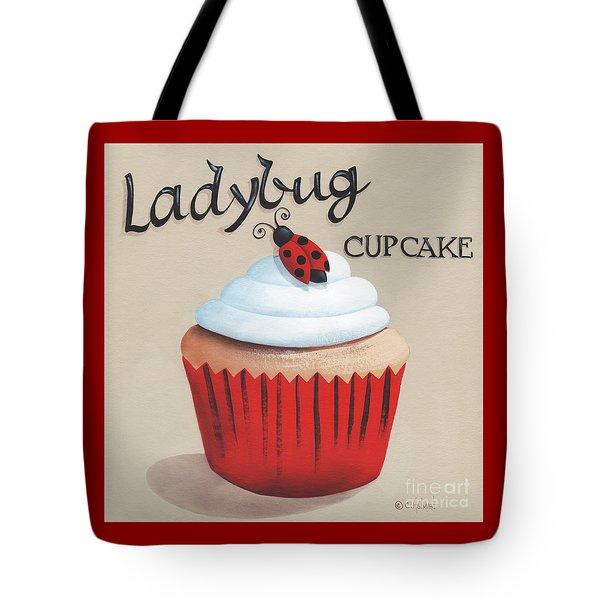 Ladybug Cupcake Tote Bag by Catherine Holman