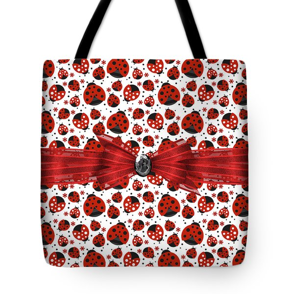 Ladybug Obsession  Tote Bag by Debra  Miller
