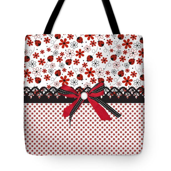 Ladybug Whisper  Tote Bag by Debra  Miller