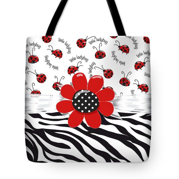 Ladybug Wild Thing Tote Bag by Debra  Miller