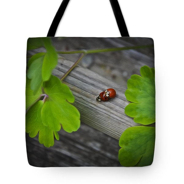 Ladybugs Mating Tote Bag by Aged Pixel