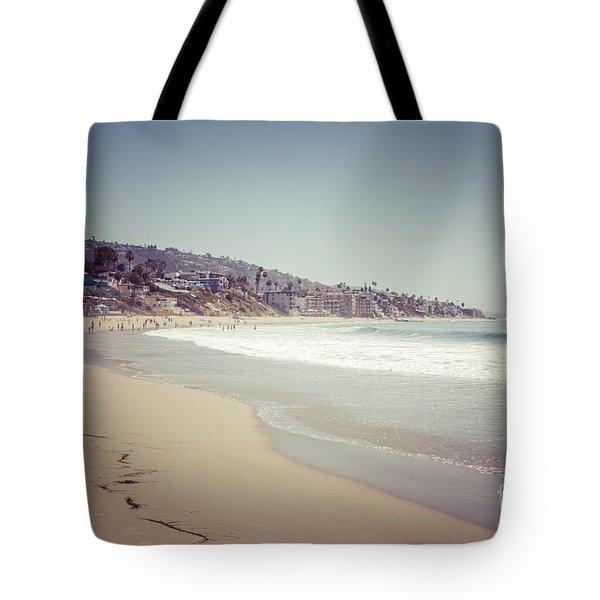 Laguna Beach Retro Picture Tote Bag by Paul Velgos
