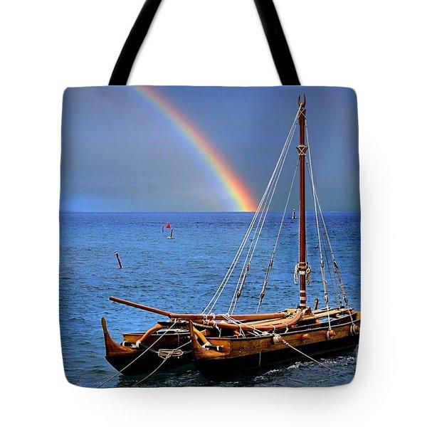 Lahaina Harbor Tote Bag by DJ Florek