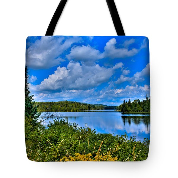 Lake Abanakee - Indian Lake New York Tote Bag by David Patterson