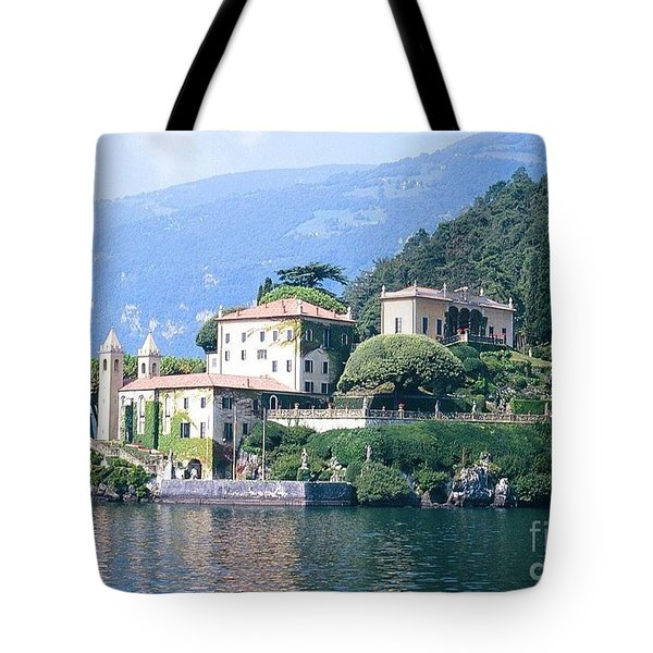 Lake Como Palace Tote Bag by Greta Corens