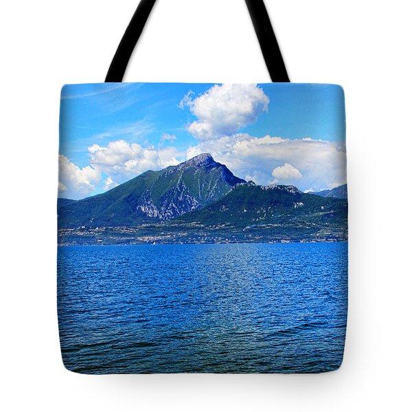 Lake Garda Paradise Tote Bag by Mariola Bitner