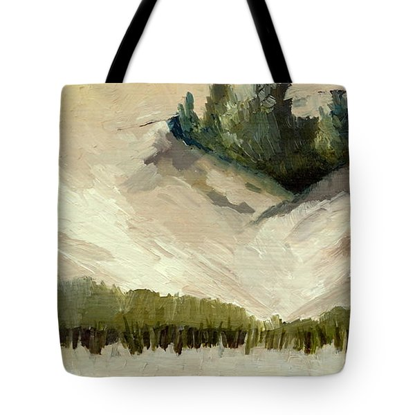Lake Michigan Dune with Trees Diptych Tote Bag by Michelle Calkins