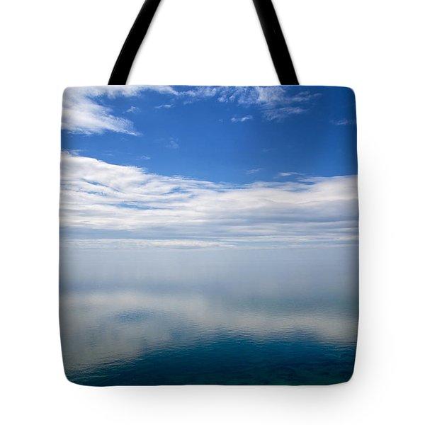 Lake Michigan's Lost Horizon Tote Bag by Mary Lee Dereske