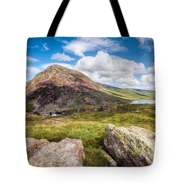 Lake Ogwen Tote Bag by Adrian Evans