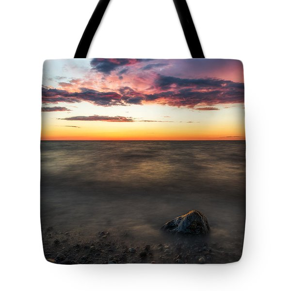 Lake Ontario Sunset Tote Bag by Mark Papke