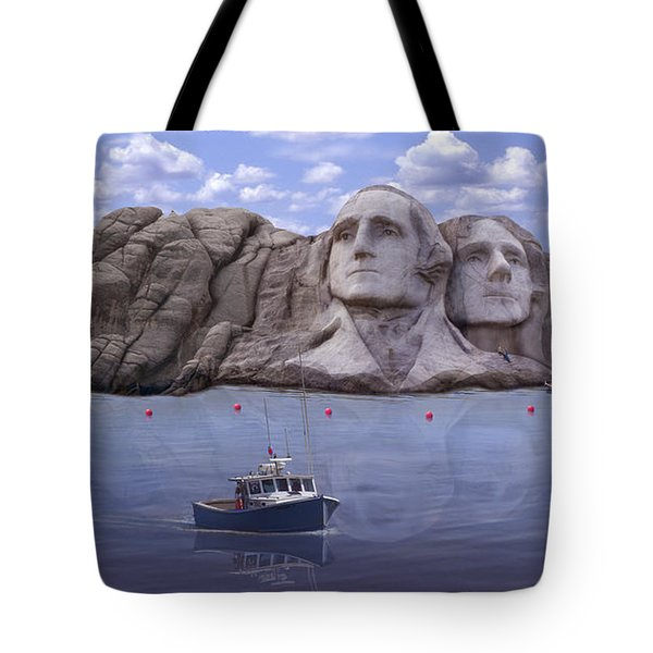 Lake Rushmore Tote Bag by Mike McGlothlen