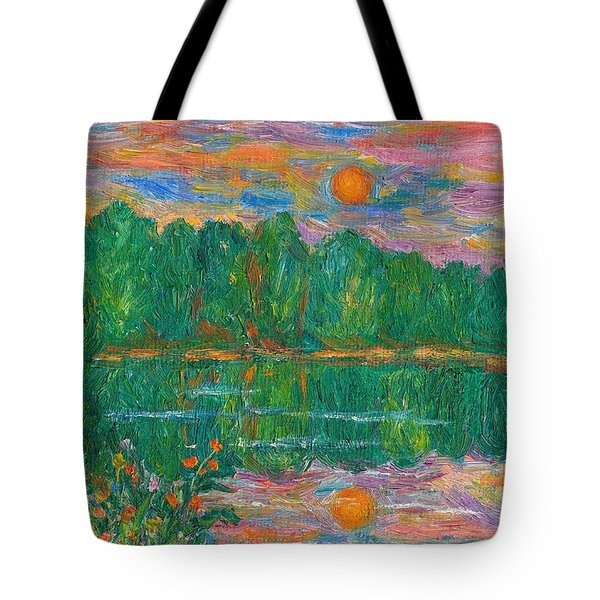 Lake Sunset Tote Bag by Kendall Kessler