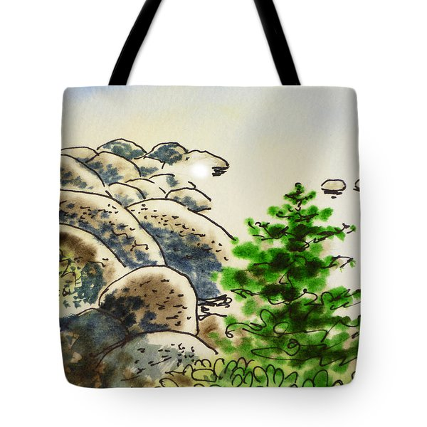 Lake Tahoe - California Sketchbook Project Tote Bag by Irina Sztukowski