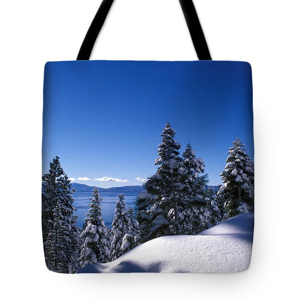 Lake Tahoe In Winter Tote Bag by Kathy Yates