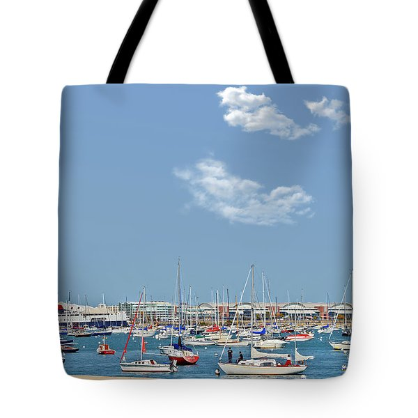 Lakefront Chicago Tote Bag by Christine Till