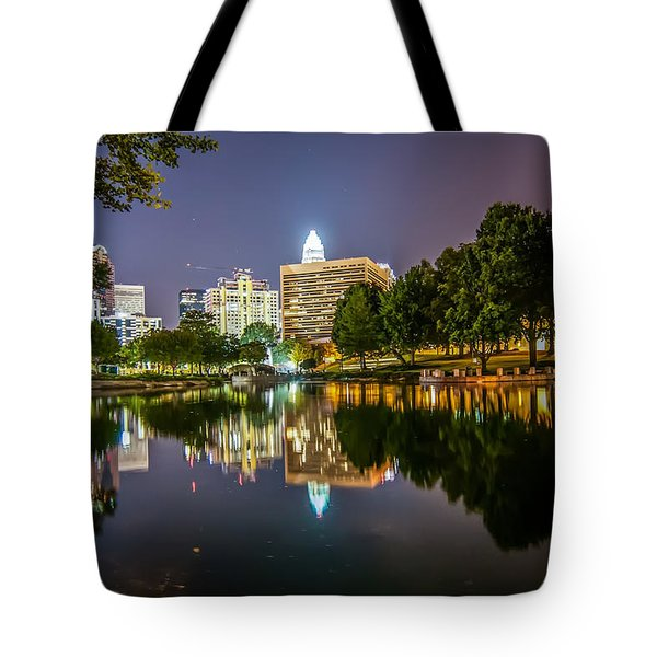 Lakeside in Charlotte Tote Bag by Mountain Dreams