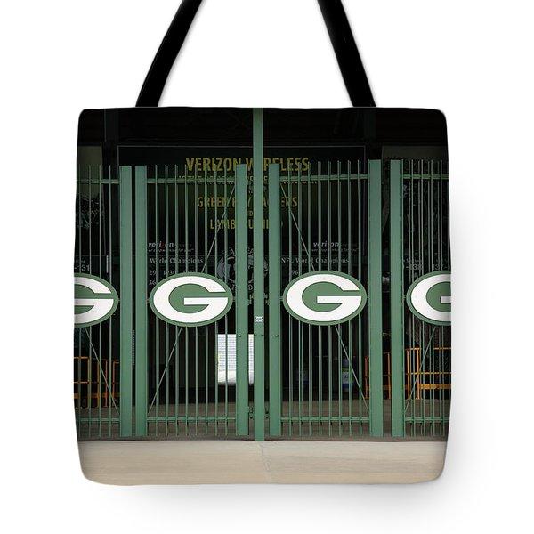 Lambeau Field - Green Bay Packers Tote Bag by Frank Romeo
