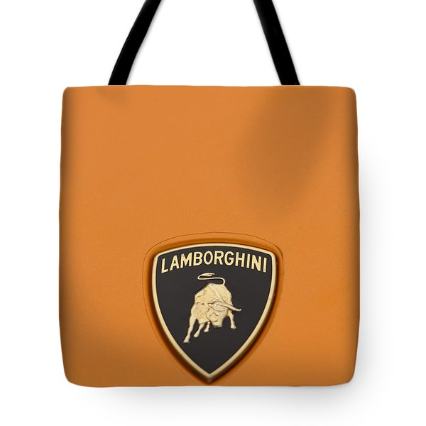 Lambo Hood Ornament Orange Tote Bag by Scott Campbell
