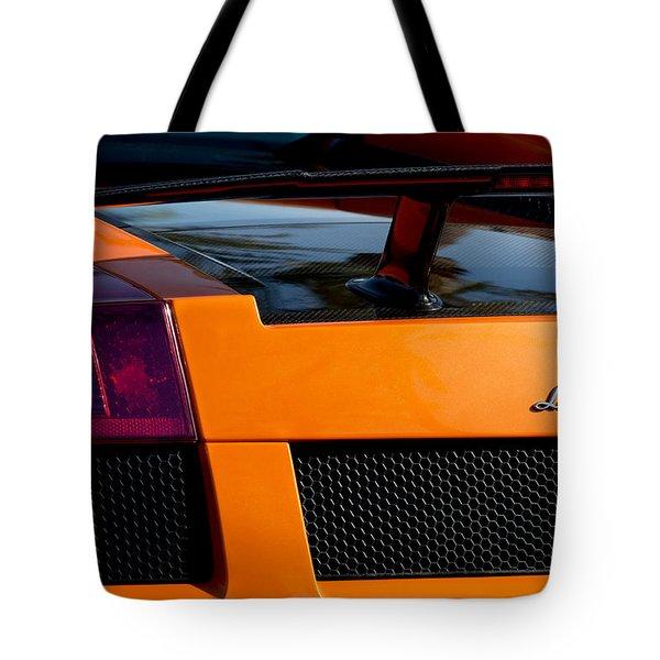 Lamborghini Rear View 2 Tote Bag by Jill Reger