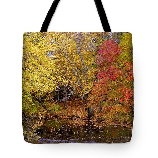 Lamprey In Fall Tote Bag by Eunice Miller