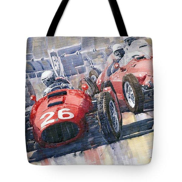 Lancia D50 Alberto Ascari Monaco 1955 Tote Bag by Yuriy  Shevchuk