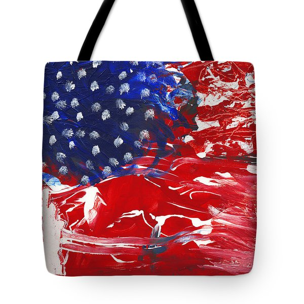 Land Of Liberty Tote Bag by Luz Elena Aponte