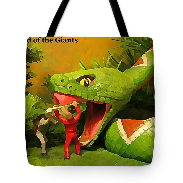 Land Of The Giants Tote Bag by John Malone