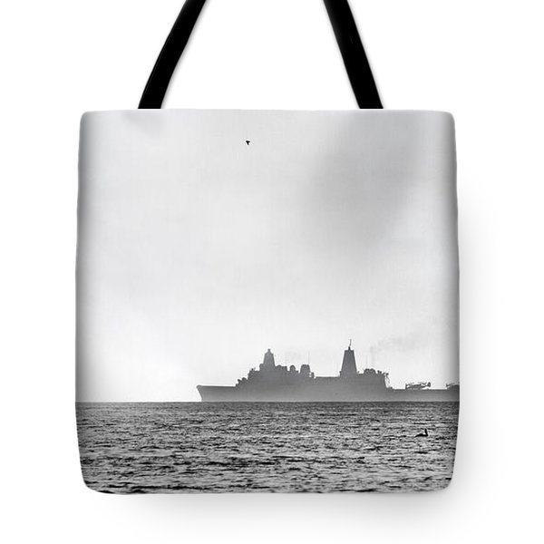 Landing On The Horizon Tote Bag by Betsy Knapp