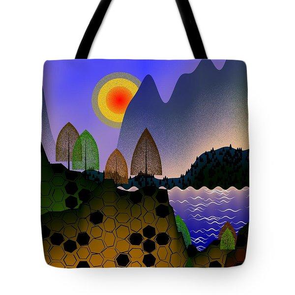 Landscape Tote Bag by GuoJun Pan