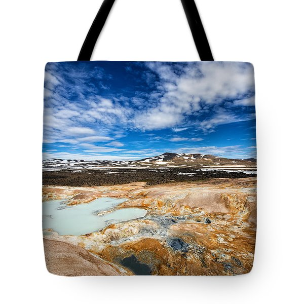 Landscape in North Iceland Leirhnjukur Tote Bag by Matthias Hauser