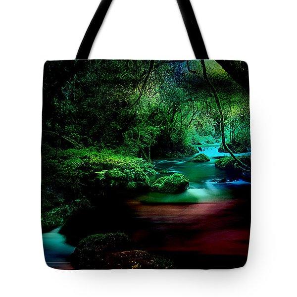 Landscape Waler Flows Tote Bag by Marvin Blaine