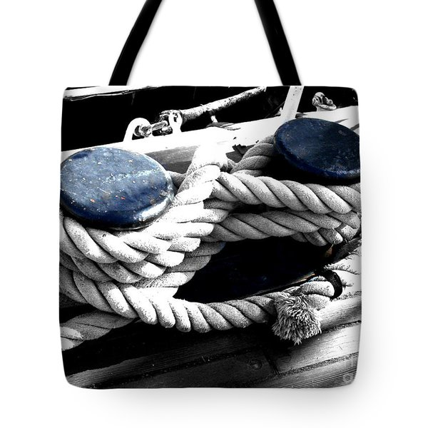Large Dock Cleat Tote Bag by Cheryl Young