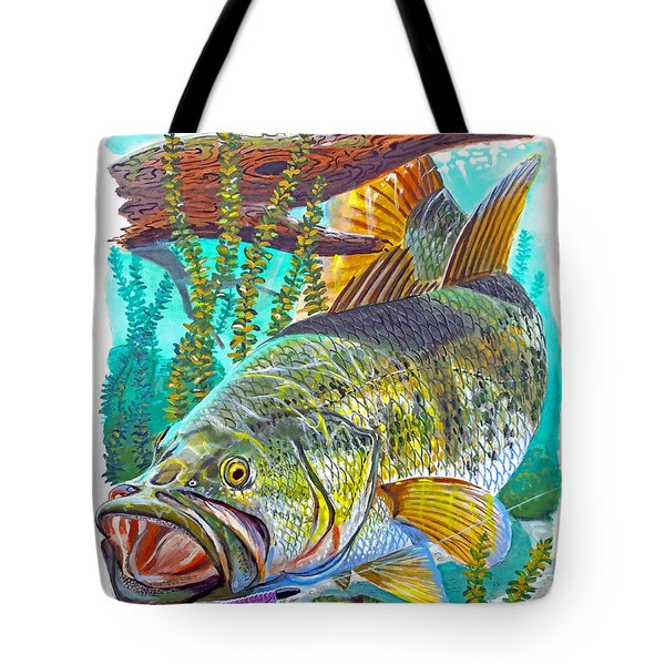 Largemouth Bass Tote Bag by Carey Chen