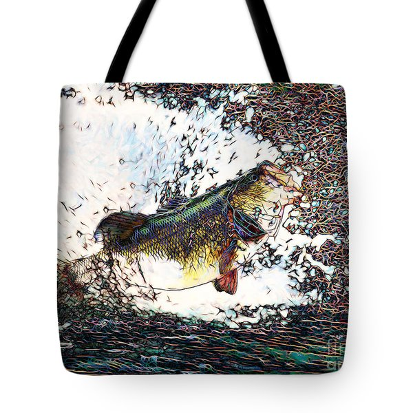 Largemouth Bass P180 Tote Bag by Wingsdomain Art and Photography