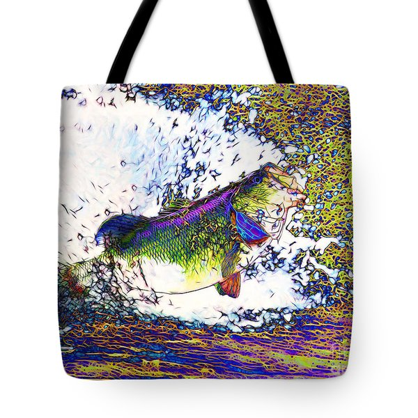 Largemouth Bass p68 Tote Bag by Wingsdomain Art and Photography