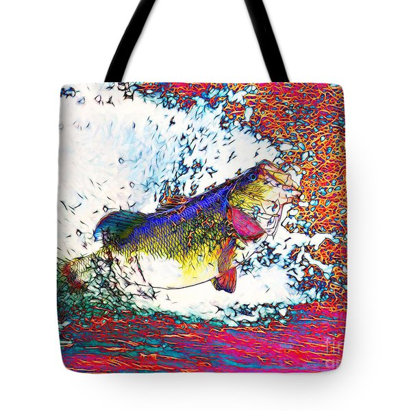 Largemouth Bass Tote Bag by Wingsdomain Art and Photography