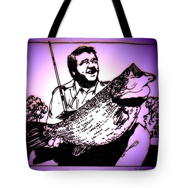 Largemouth Tote Bag by George Pedro
