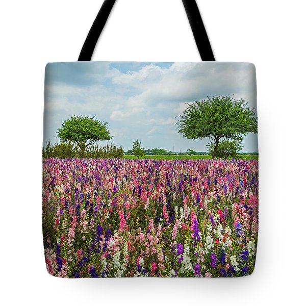 Larkspur Fields Forever Tote Bag by Lynn Bauer