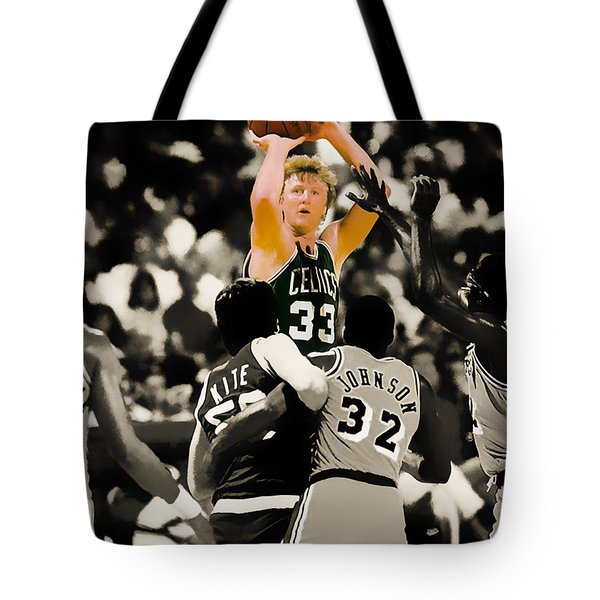 Larry Bird Tote Bag by Brian Reaves