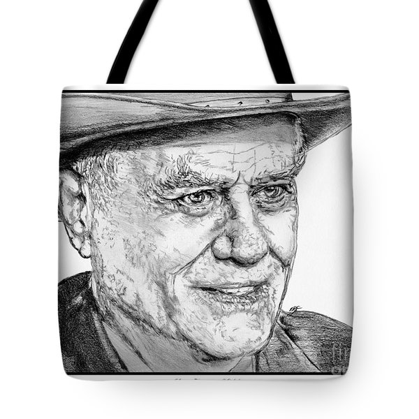 Larry Hagman In 2011 Tote Bag by J McCombie