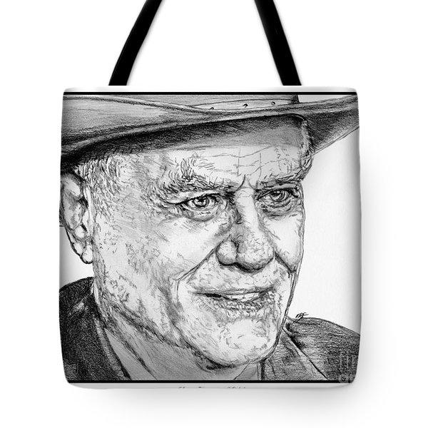 Larry Hagman in 2011 Tote Bag by J McCombie